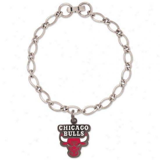 Chicago Bulls Ladies Silver-tone Subdue by a ~ Bracelet