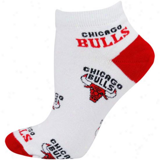 Chicago Bulls Ladies White All Over Team Logo Ankle Socks