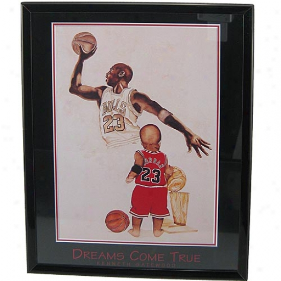 """chicago Bulls Michael Jordan """"dreams Come Trje"""" Picture"""