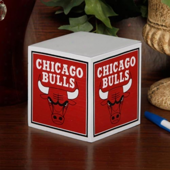 Chicagp Bulls Note Cube