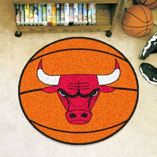 Chicago Bulls Oragne Round Basketball Mat