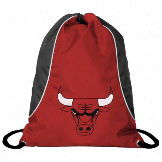 Chicago Bulls Red-black Axis Drawstring Backpack