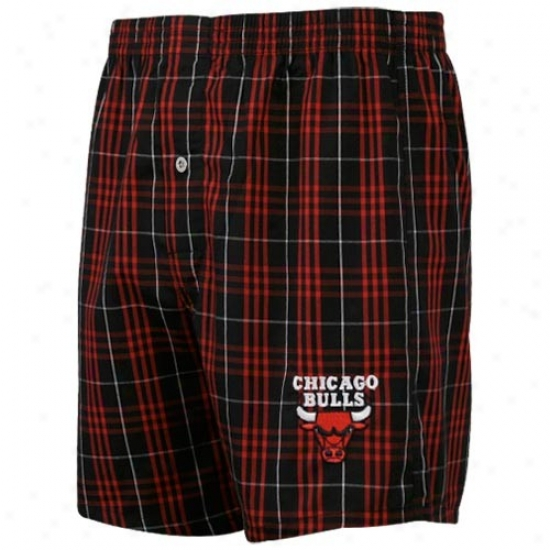 Chicago Bulls Red Plaid Genuine Boxer Shorts
