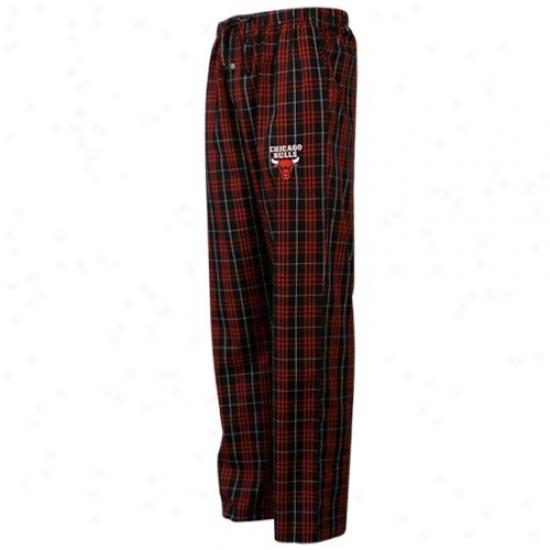 Chicago Bulls Red Plaid Genuine Pajama Pants