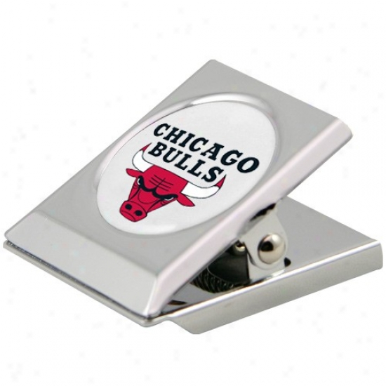 Chicago Bulls Silver Heavy-duty Magnetic Chip Spring-clasp