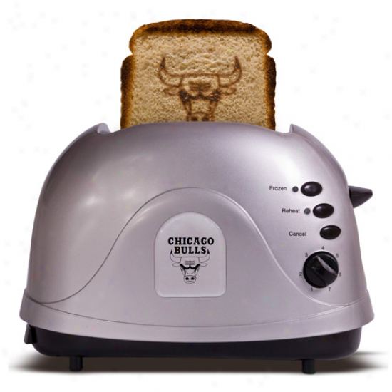 Chicago Bulls Silver Team Logo Pro Toaster