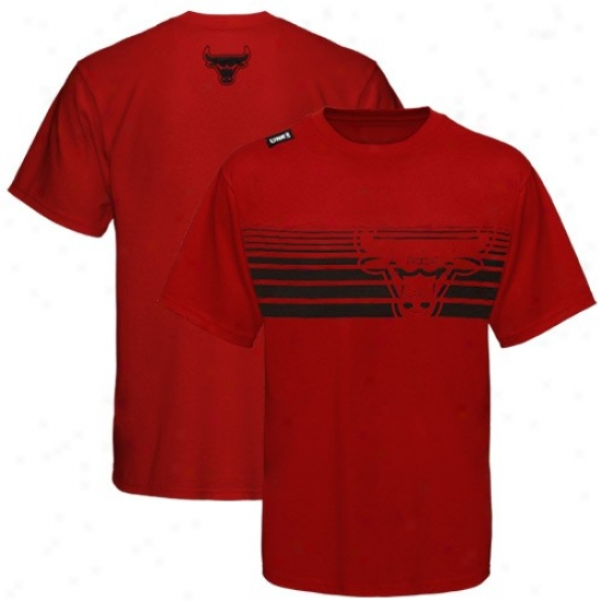 Chicago Bulls T Shirt : Chicago Bulls Red Slash Graphic T Shirt