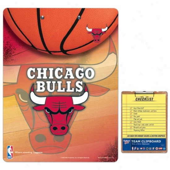Chicago Bulls Team Logo Clipboard