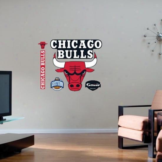 Chicago Bulls Team Logo Fathead Wall Sticker