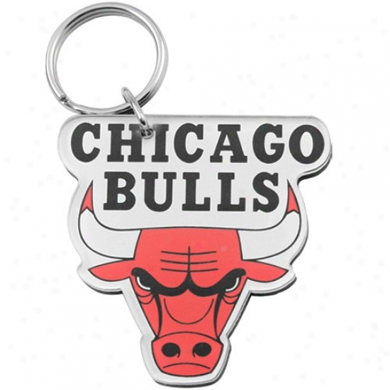 Chicago Bulls Team Logo High Definition Keychain