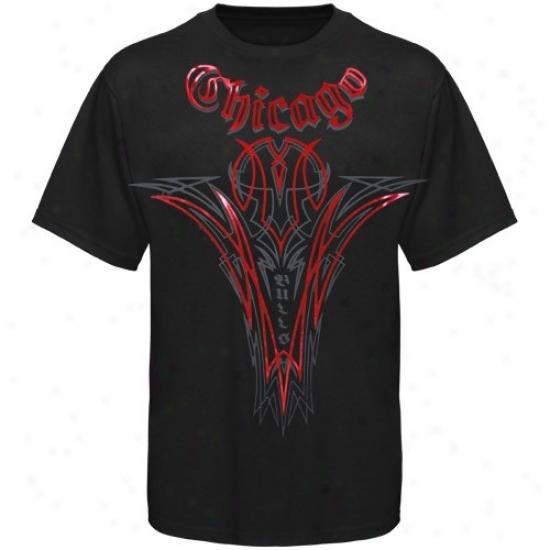 Chicago Bulls Tshirts : Adidas Chicago Bulls Black Continental Tshirts