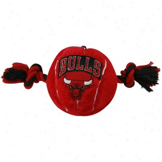 ChicagoB ulls Two Tone Plush Basketball Dog Toy