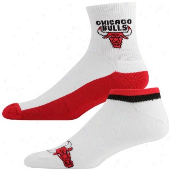 Chicago Bulls White-red Two-pack Socks