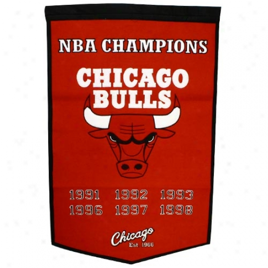 Chicago Bulls Wool Dynasty Bannr