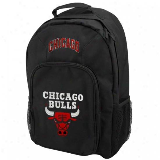 Chicago Bulls Youth Black Southpaw Backpack