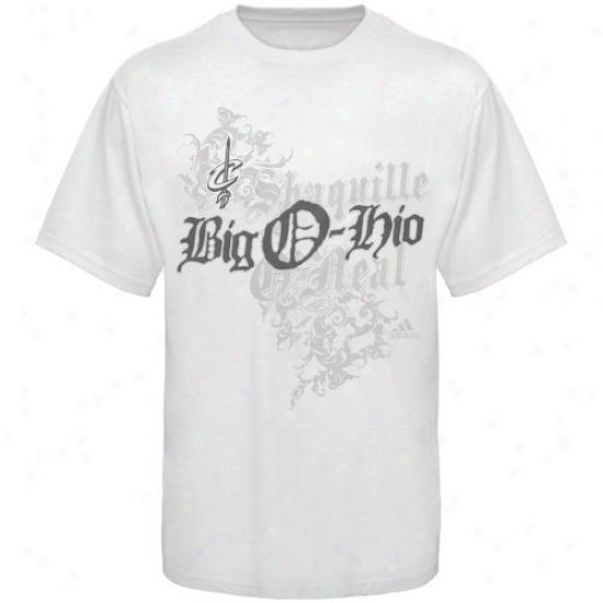 Cleveland Cav Attire: Adidas Cleveland Cav White Sha qOhio T-shirt