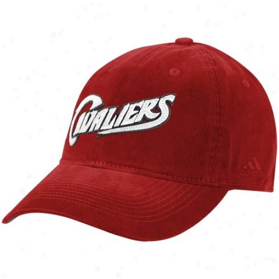 Cleveland Cav Cap : Adidas Cleveland Cav Wine Script Slouch Cap