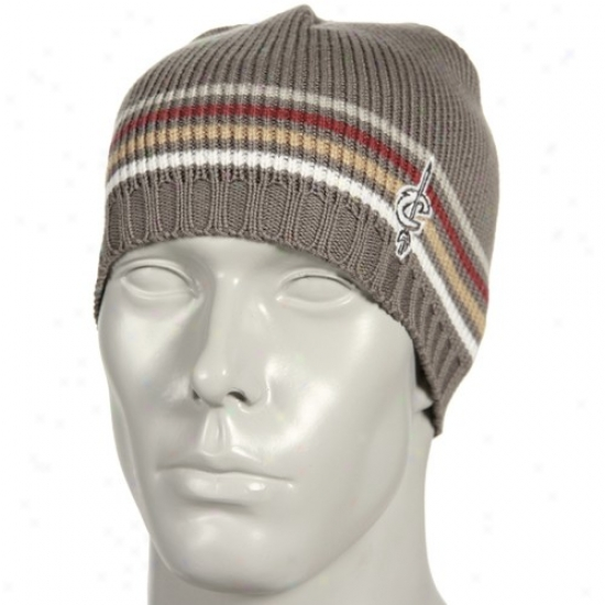 Cleveland Cav Hat : Adidas Cleveland Cav Gray Sweater Knit Beanie
