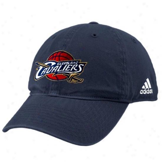 Cleveland Cav Hat : Adidas Cleveland Cav Nav Blue Basic Logo Slouch Hat