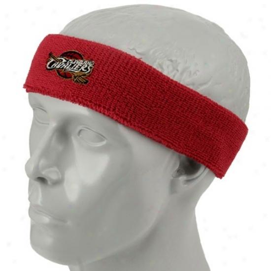Cleveland Cav Hat : Cleveeland Cav Red Team Logo Headband