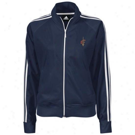 Cleveland Cav Jacket : Adidas Cleveland Cav Navy Blue Ladies Track Jacket