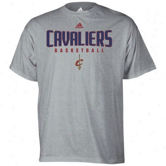 Cleveland Cav Tees : Adidas Cleveland Cav Ash Absolute Tees