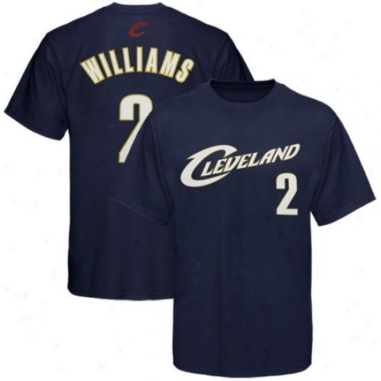 Cleveland Cavalier Apparel: Adidas Cleveland Cavalier #2 Mo Williams Navy Blue Player T-shirt
