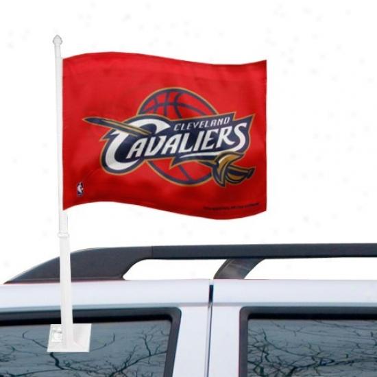 Cleveland Cavalier Banner : Cleveland Cavalier Red Car Flag