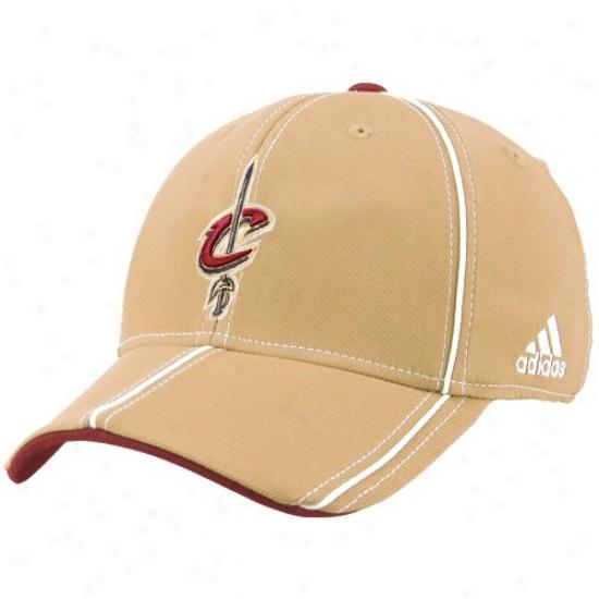 Cleveland Cavalier Cap : Adidas Cleveland Cavalier Gold Structured Trimmed Flex Fit Cap