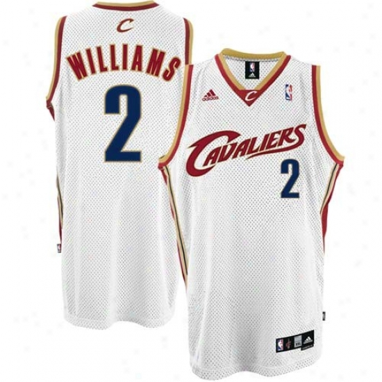 Clevelanr Cavalier Jerseys : Adidas Cleveland Cavalier #2 Mo Williams WhiteS wingman Basketball Jerseys