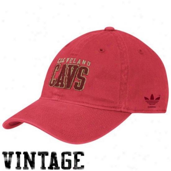 Cleveland Cavailer Merchandise: Adidas Cleveland Cavalier Wine Slope Flex Fit Hat