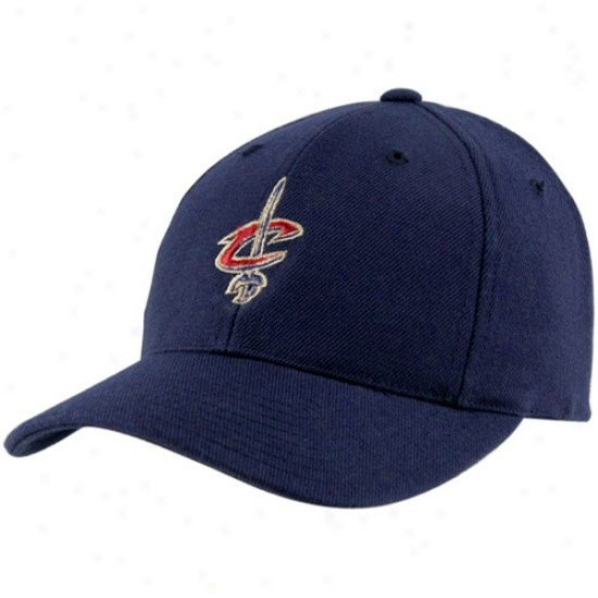 Cleveland Cavalier Merchandise: Cleveland Cavalier Navy Azure Wool Blend Adjustable Hat