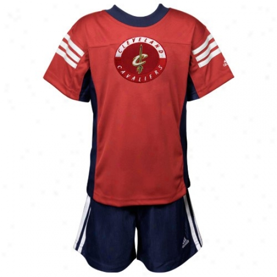 Cleveland Cavalier T Shirt : Adidas Cleveland Cavalier Red Toddler T Shirt & Shorts Set