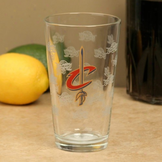Cleveland Cavaliers 16oz. Satin Etch Pint Glass