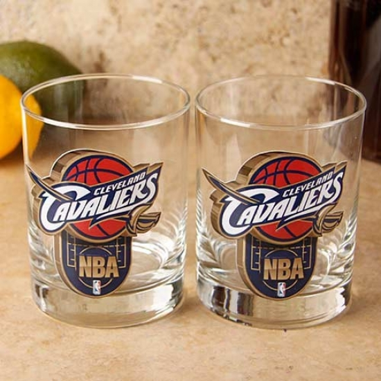 Clevelaand Cavaliers 2-pack Enhanced Hi-def 14oz.. Executive Rocks Glasa