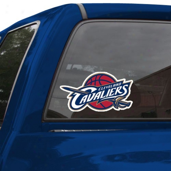 """cleveland Cavaoiers 8"""" X 8"""" Color Team Logo Ca rDecal"""