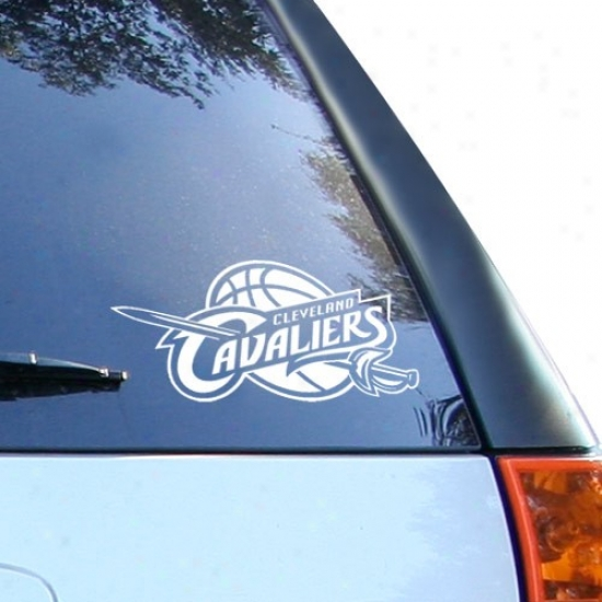 Cleveland Cavaliers 8x8 White Decal Logo