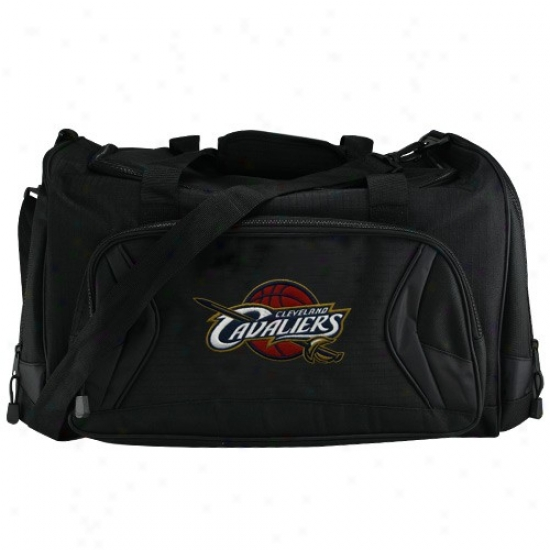 Cleveland Cavaliers Bllack Fly-by Duffdl Bag