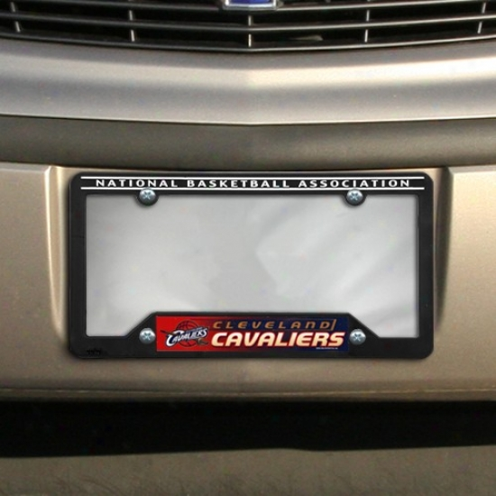 Cleveland Cavaliers Black Plastic License Plate Frame