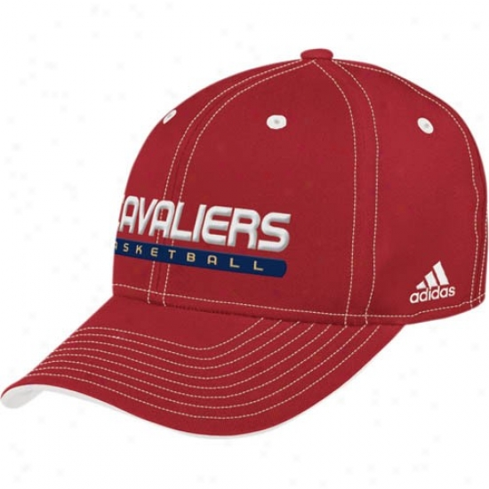 Cleveland Cavaliers Hats : Adidas Cleveland Cavaliers Crimson Official Team Pro Hats