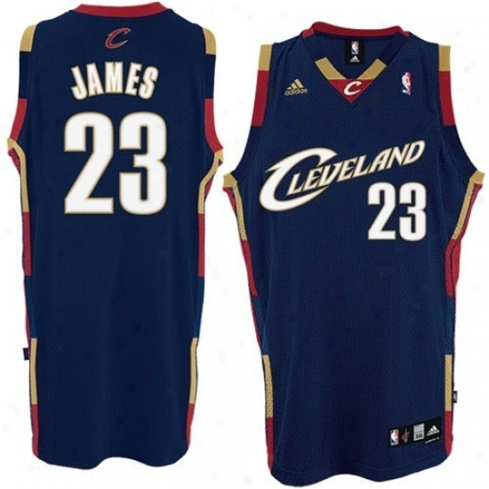 Cleveland Cavaliers Jerseys : Adidas Cleveland Cavalieers #23 Lebron James Navy Blue Youth Alternate Color Swingman Jerseys