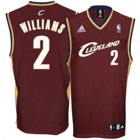 Cleveland Cavaliers Jerseys : Adidas Cleveland Cavaliers #2 Mo Williams Wine Replica Basketball Jerseys