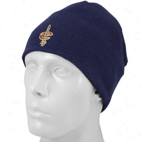 Cleveland Cavaliers Merchandise: Adidas Cleveland Cavaliers Navy Blue Knit Beanir Cap
