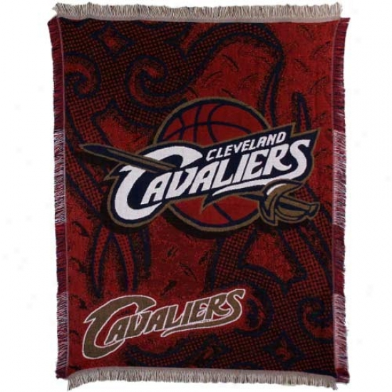 Cleveland Cavaliers Navy Blue 48'' X 60'' Tattoo Jacquard Woven Blanket Throw