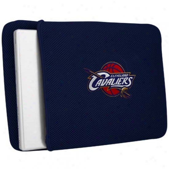 Cleveland Cavaliers Navy Blue Mesh Laptop Cover