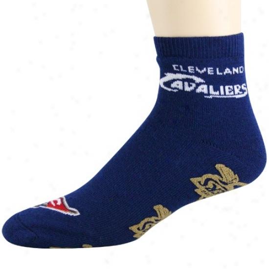 Clveland Cavalierss Navy Blue Slipper Socks