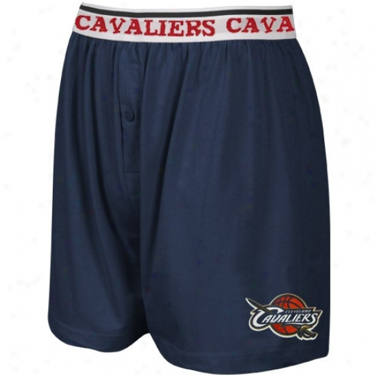 Cleveland Cavaliers Navy Blue Team Lkgo Boxer Shorts