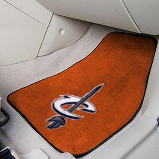 Cleveland Cavaliers Orange 2-piece Carpet Car Mat Set
