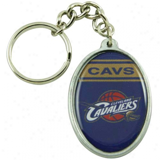 Cleveland Cavalier sOval Keychain