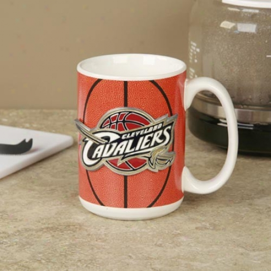 Cleveland Cavaliers Pewter Logo Basketball Coffee Mug